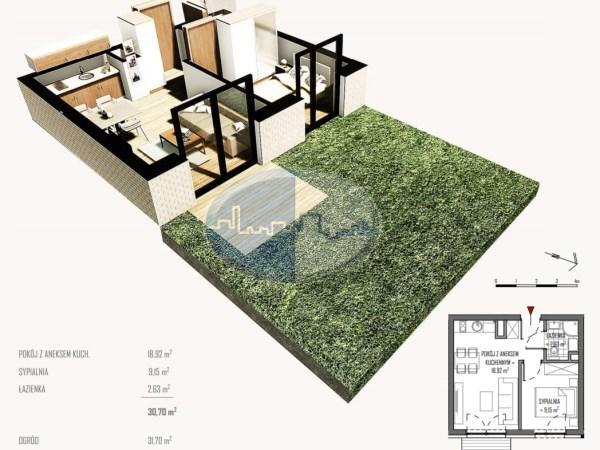 Mieszkanie na sprzedaż o pow. 30,70 m2